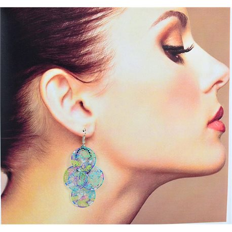 1p Filigree Earrings with silver hook New Ethnic Collection 78356