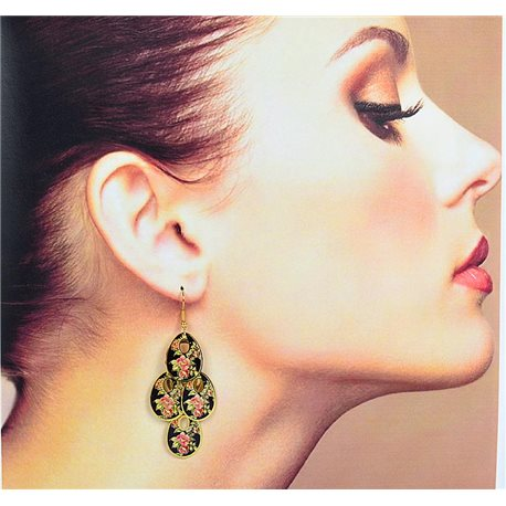 1p Filigree Earrings with golden hook New Ethnic Collection 78359