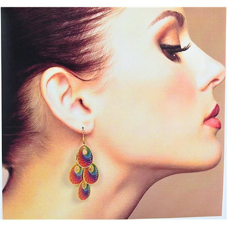 1p Filigree Earrings with golden hook New Ethnic Collection 78360
