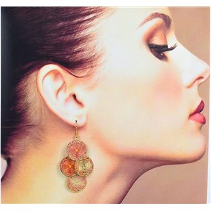 1p Filigree Earrings with golden hook New Ethnic Collection 78366