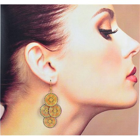 1p Filigree Earrings with golden hook New Ethnic Collection 78368