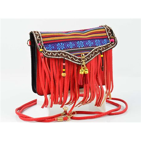 Women's leather-look pouch New Collection Ethnic Fabrics 18 * 14cm 78496
