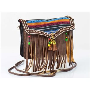 Women's leather-look pouch New Collection Ethnic Fabrics 18 * 14cm 78500