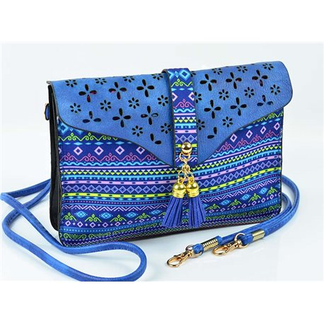 Women's leather-look pouch New Collection Ethnic Fabrics 18 * 14cm 78479