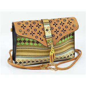 Women's leather-look pouch New Collection Ethnic Fabrics 18 * 14cm 78488