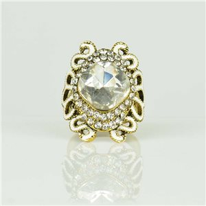 Bague Strass réglable Doré Full Strass New Collection 78512