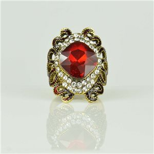 Bague Strass réglable Doré Full Strass New Collection 78513