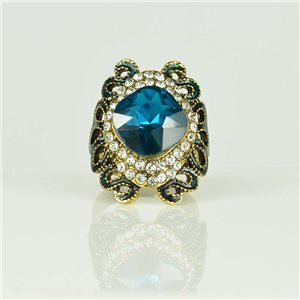Bague Strass réglable Doré Full Strass New Collection 78514