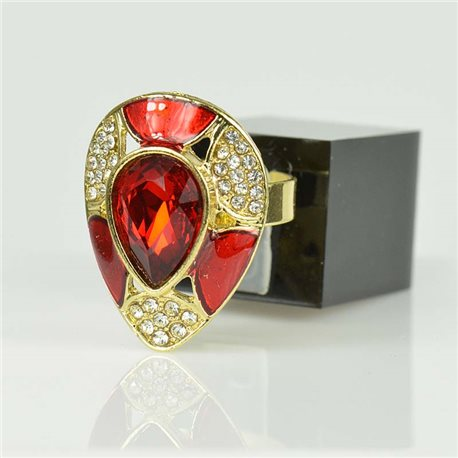 Adjustable Strass Ring Gold Full Strass New Collection 78517