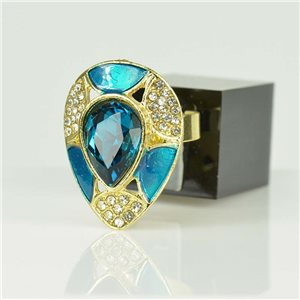 Bague Strass réglable Doré Full Strass New Collection 78518