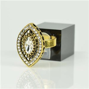 Bague Strass réglable Doré Full Strass New Collection 78520