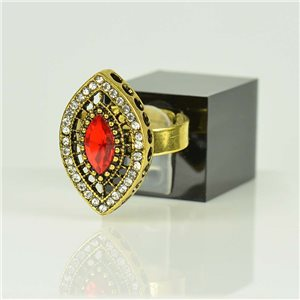 Bague Strass réglable Doré Full Strass New Collection 78521