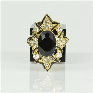 Bague Strass réglable Doré Full Strass New Collection 78523