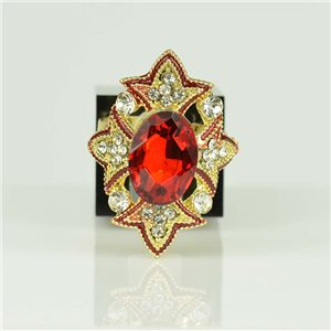 Bague Strass réglable Doré Full Strass New Collection 78525