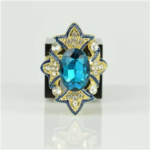 Adjustable Strass Ring Gold Full Strass New Collection 78526