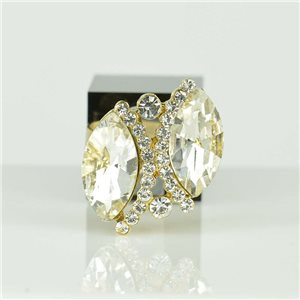 Bague Strass réglable Doré Full Strass New Collection 78532