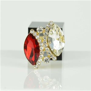 Adjustable Strass Ring Gold Full Strass New Collection 78533