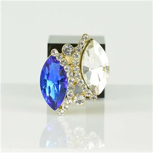 Adjustable Strass Ring Gold Full Strass New Collection 78534