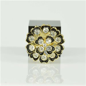 Bague Strass réglable Doré Full Strass New Collection 78535