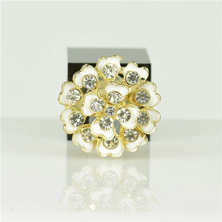 Adjustable Strass Ring Gold Full Strass New Collection 78536