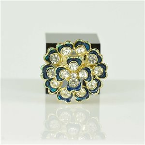 Adjustable Strass Ring Gold Full Strass New Collection 78538