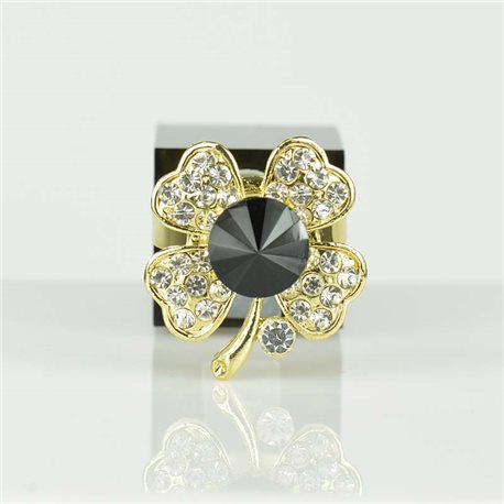 Adjustable Strass Ring Gold Full Strass New Collection 78539
