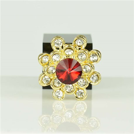 Bague Strass réglable Doré Full Strass New Collection 78545