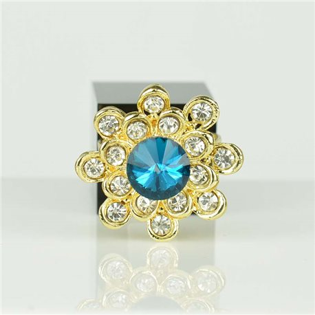 Adjustable Strass Ring Gold Full Strass New Collection 78546
