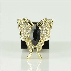 Adjustable Strass Ring Gold Full Strass New Collection 78547