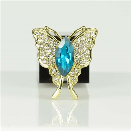 Adjustable Strass Ring Gold Full Strass New Collection 78550