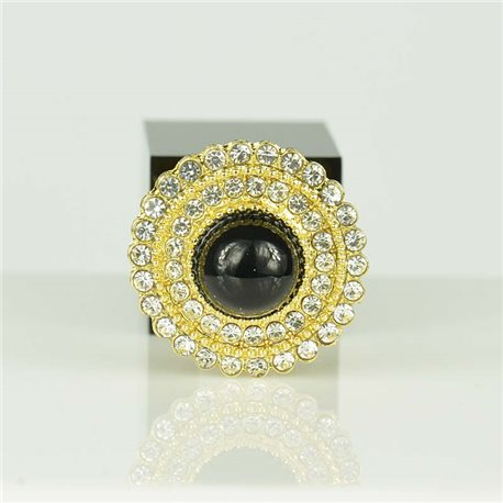 Adjustable Strass Ring Gold Full Strass New Collection 78555