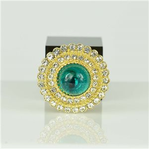 Adjustable Strass Ring Gold Full Strass New Collection 78557