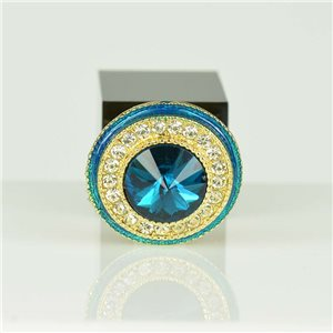 Adjustable Strass Ring Gold Full Strass New Collection 78562