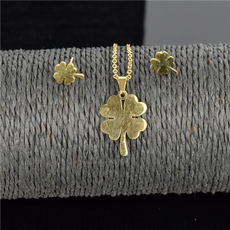 Stainless Steel Set on 44cm stainless steel chain - GOLD Steel Collection 78899