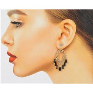 1p Filigree Zircon Stud Earrings and Tassels New Collection 78770