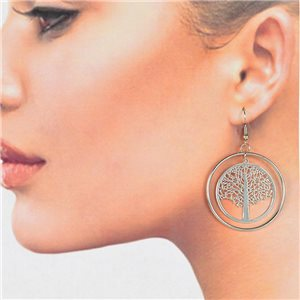 1p Filigree Silver Hook Earrings New Collection 78775