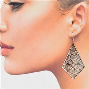 1p Filigree Silver Hook Earrings New Collection 78778