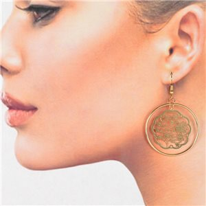 1p Filigree Golden Hook Earrings New Collection 78782