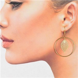 1p Filigree Golden Hook Earrings New Collection 78783