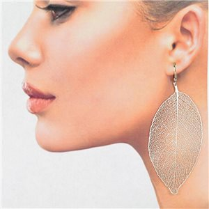 1p Boucles Oreilles Filigrane Argenté à crochet New Collection 78816