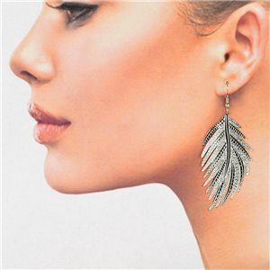 1p Filigree Silver Hook Earrings New Collection 78820