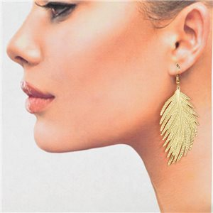 1p Filigree Golden Hook Earrings New Collection 78821