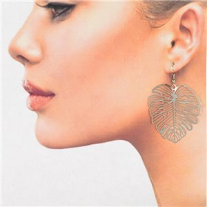 1p Boucles Oreilles Filigrane Argenté à crochet New Collection 78822
