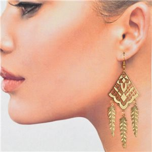 1p Filigree Golden Hook Earrings New Collection 78788