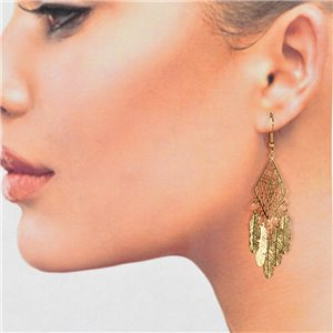 1p Filigree Golden Hook Earrings New Collection 78789