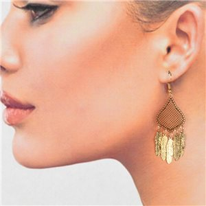 1p Filigree Golden Hook Earrings New Collection 78791