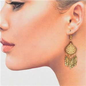 1p Filigree Golden Hook Earrings New Collection 78792