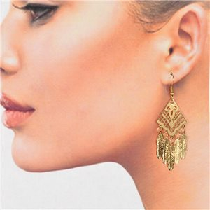1p Filigree Golden Hook Earrings New Collection 78793
