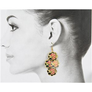 1p Filigree Golden Hook Earrings New Collection 78796