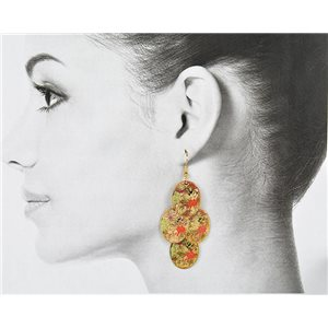 1p Boucles Oreilles Filigrane Doré à crochet New Collection 78797